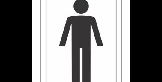 Placa de Sinalização Banheiro Masculino
