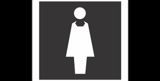 Placa de Sinalização Sanitário Feminino