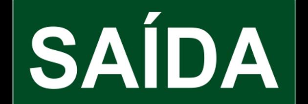 Placa de Sinalização de Emergência Saída