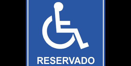 Placa Reservado a Cadeirante