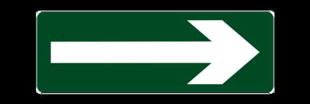 Placa de Sinalização de Emergência Complementar Seta Rodapé