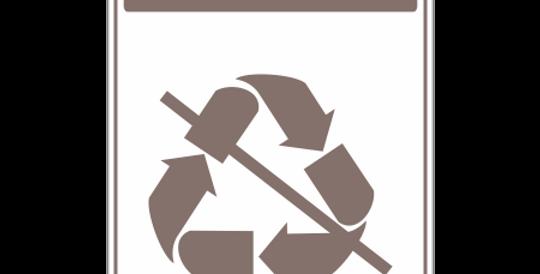 Placa de Sinalização de Coleta Seletiva Orgânicos