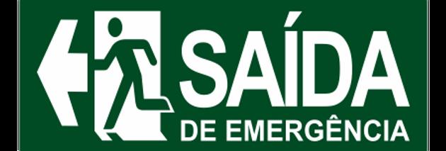 Placa de Sinalização de Saída de Emergência a Esquerda