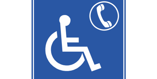 Placa Telefone de Acesso Exclusivo a Cadeirante
