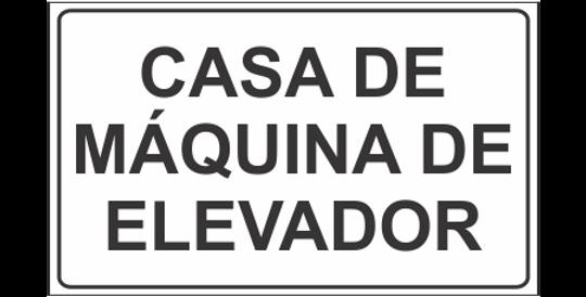 Placa Casa de Máquina de Elevador