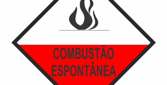 Placa Simbologia de Risco Combustão Espontânea