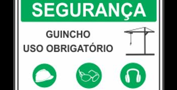 Placa Segurança Guincho Uso Obrigatório de EPI