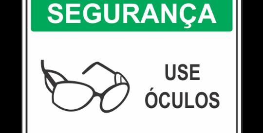 Placa de EPI Use Óculos