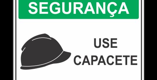 Placa de EPI Use Capacete
