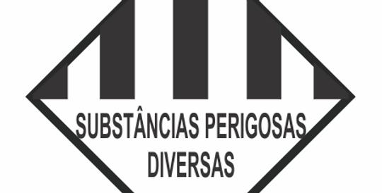 Placa Simbologia de Risco Substâncias Perigosas