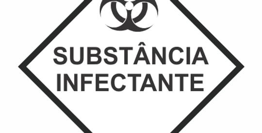 Placa Simbologia de Risco Substâncias Infectante