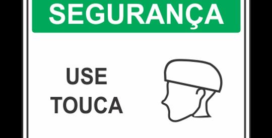 Placa de EPI Uso Obrigatório de Touca
