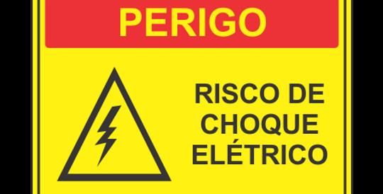 Placa Perigo Risco de Choque Elétrico