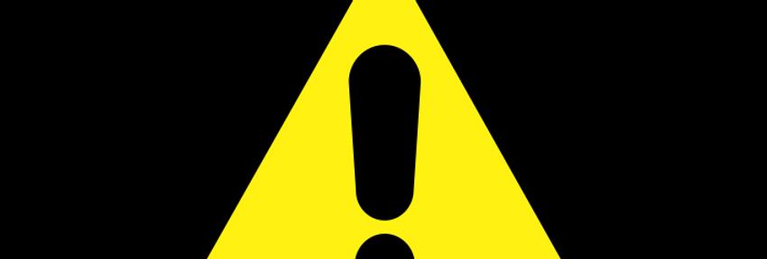 Placa de Sinalização de Advertência Alerta Geral