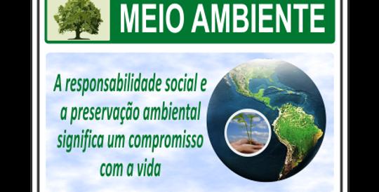 Placa Meio Ambiente Responsabilidade Social
