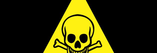 Placa de Sinalização Advertência Risco de Morte