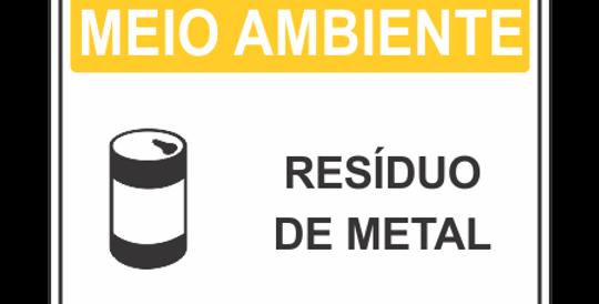 Placa de Meio Ambiente Resíduo de Metal