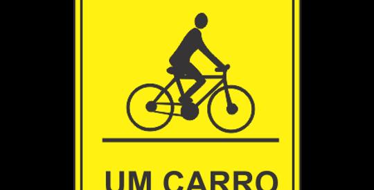 Placa Respeite o Ciclista