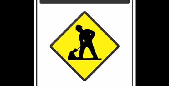Placa Cuidado Devagar Obras