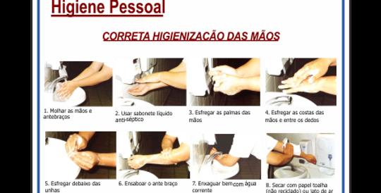 Placa Higiene Pessoal Lavar as Mãos