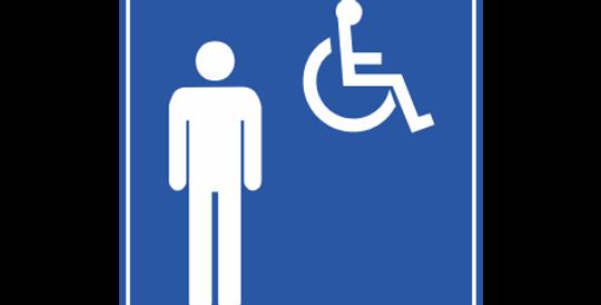 Placa Acesso Comum Masculino e Cadeirante