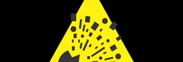 Placa de Sinalização Advertência Risco de Explosão