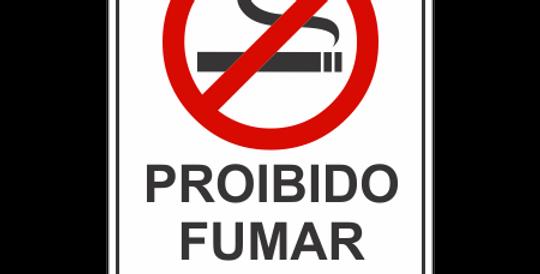 Placa Proibido Fumar com lei