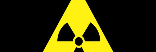 Placa de Sinalização Advertência Risco de Radiação