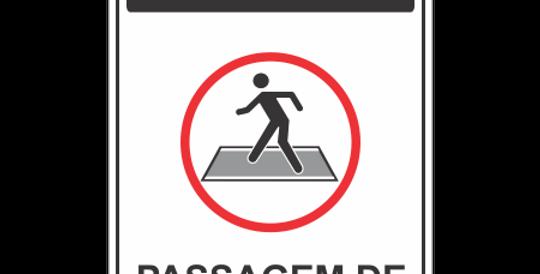 Placa Atenção Passagem de Pedestre