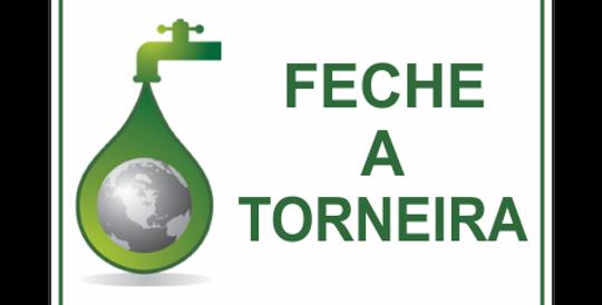 Placa Evite Desperdício de Água Feche a Torneira