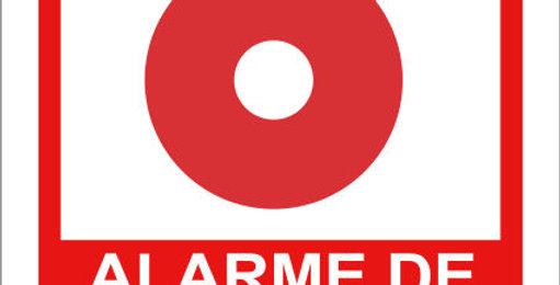 Placa de Sinalização de Alarme de Incêndio