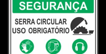 Placa Segurança Serra Circular Use EPI