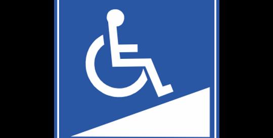 Placa Acesso a Cadeirante Rampa