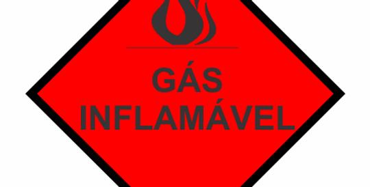 Placa Simbologia de Risco Gás Inflamávavel