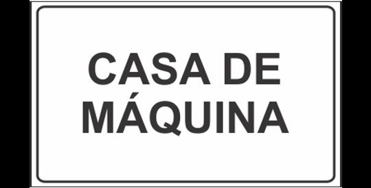 Placa Casa de Máquina