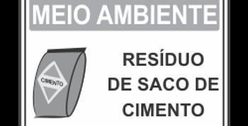 Placa de Meio Ambiente Resíduo de Cimento