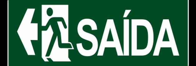 Placa de Sinalização de Saída a Esquerda