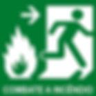Placa de Sinalização Combate a Incêndio