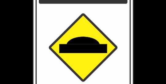 Placa Atenção Lombada