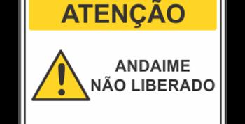 Placa de Atenção Andaime Liberado