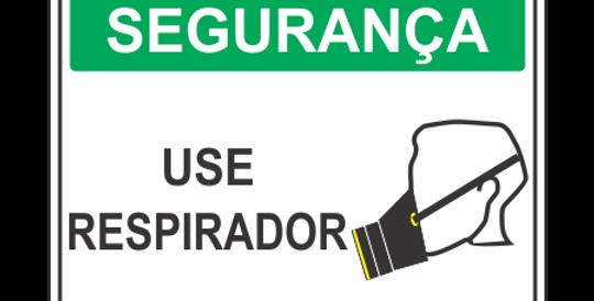 Placa de EPI Use respirador