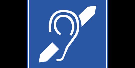 Placa Exclusivo para deficiente auditivo