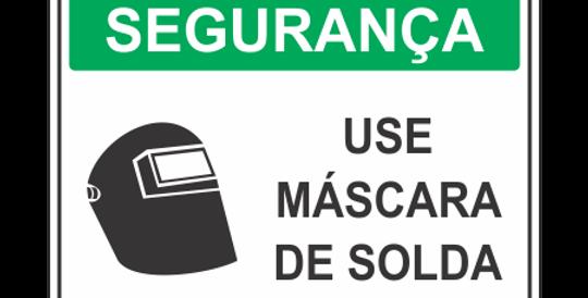 Placa de EPI Use Máscara de Solda