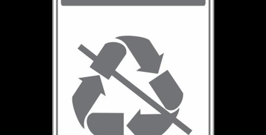 Placa de Sinalização de Coleta Seletiva Lixo Comum