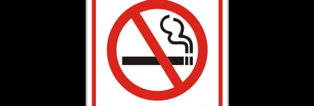 Placa de Sinalização de Alerta Proibido Fumar