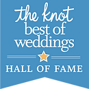 The Knot Best of Weddings Hall of Fame Award