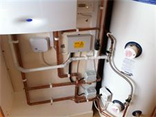 Boiler and cylinder installation