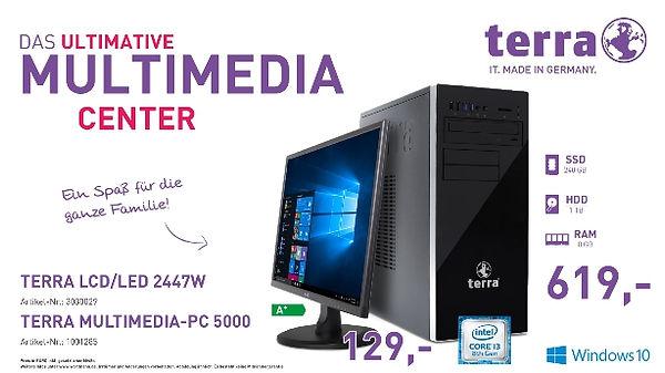 TERRA LCD/LED 2447W und MULTIMDIA PC 5000