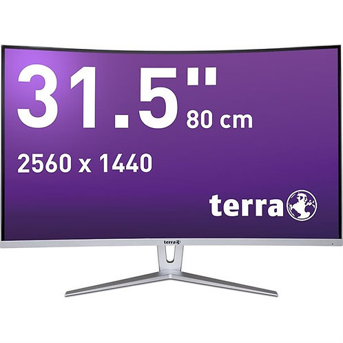 TERRA LED 3280W silver/white CURVED DP/HDMI