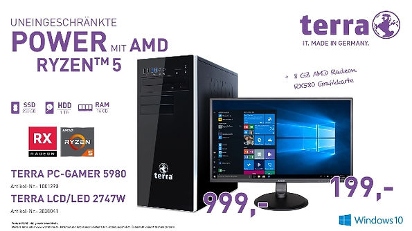 TERRA PC GAMER 5980 und LCD 2747W
